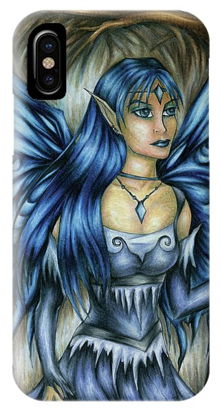 Winter Fairy Drawing IPhone Case