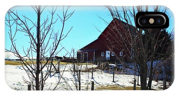 Winter Farm House IPhone Case