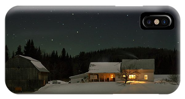 Winter Farmhouse IPhone Case