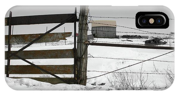 Winter Fence Farm IPhone Case