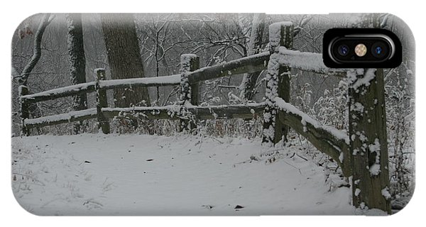 Winter Fence Trail H IPhone Case