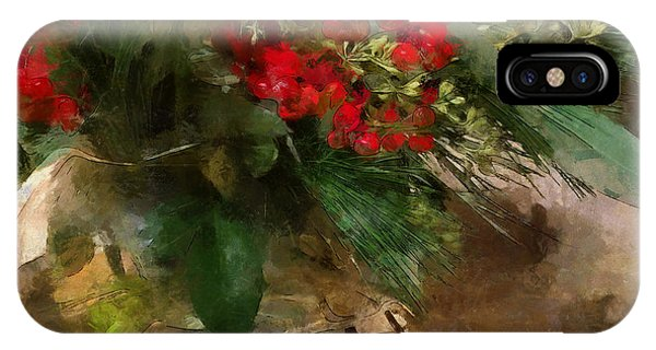 Winter Flowers In Glass Vase IPhone Case
