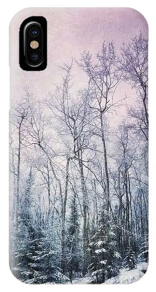 Texture iPhone Case - Winter Forest by Priska Wettstein