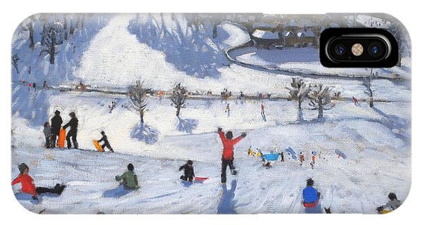 Winter iPhone Case - Winter Fun by Andrew Macara