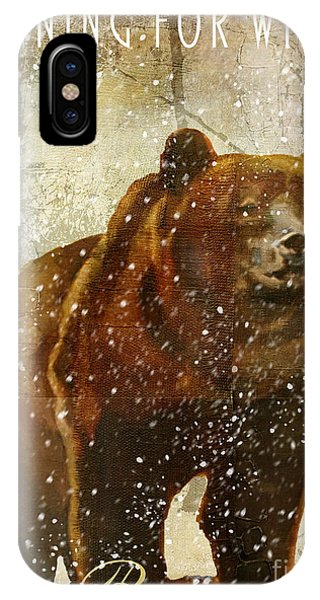Cabin iPhone Case - Winter Game Bear by Mindy Sommers