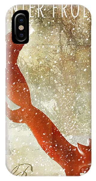 Cabin iPhone Case - Winter Game Fox by Mindy Sommers