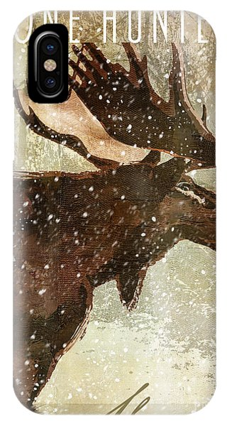 Winter Game Moose IPhone Case