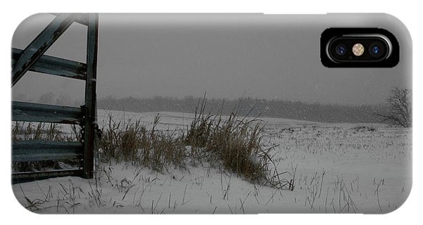 IPhone Case featuring the photograph Winter Gate by Dylan Punke