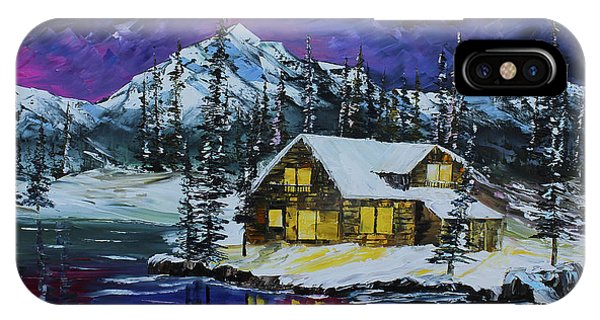 IPhone Case featuring the painting Winter Getaway by Kevin Brown