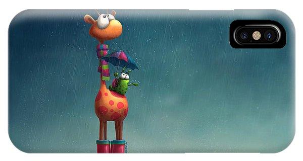 Storm iPhone Case - Winter Giraffe by Tooshtoosh