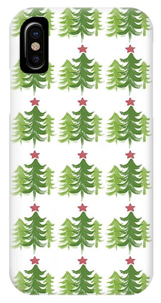 Holidays iPhone Case - Winter Holiday Trees 1-  Art By Linda Woods by Linda Woods