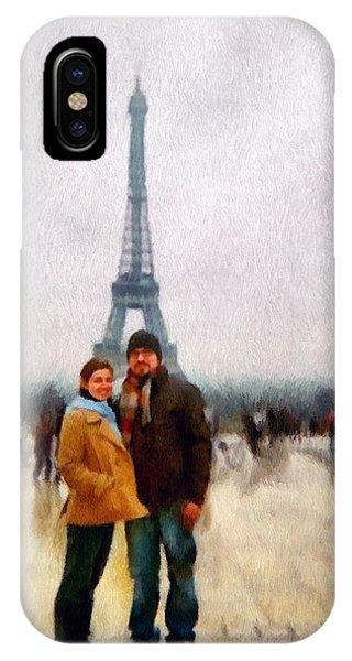 Winter Honeymoon In Paris IPhone Case