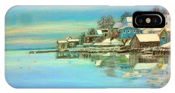 winter in Chester ,Nova Scotia  IPhone Case
