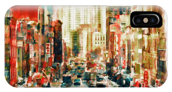 China Town iPhone Case - Winter In Chinatown - New York by Marian Voicu