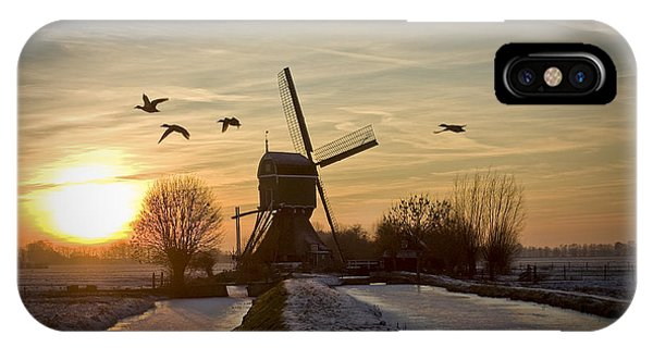 Winter In Holland-2 IPhone Case
