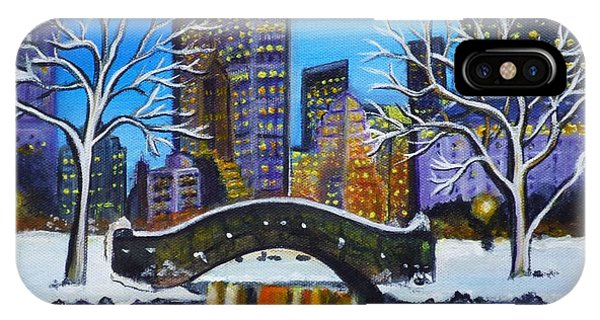 Winter In New York- Night Landscape IPhone Case