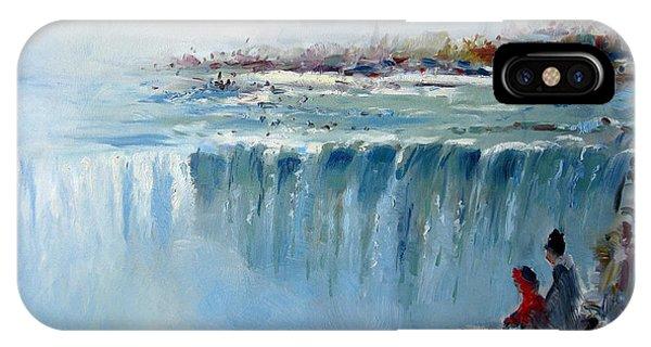 Waterscape iPhone Case - Winter In Niagara Falls by Ylli Haruni