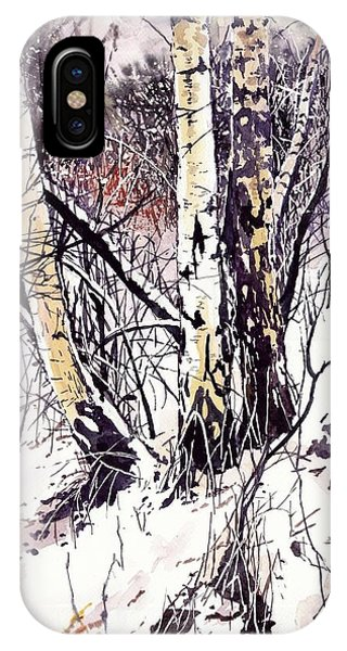 Cold iPhone Case - Winter In The Forest by Suzann Sines