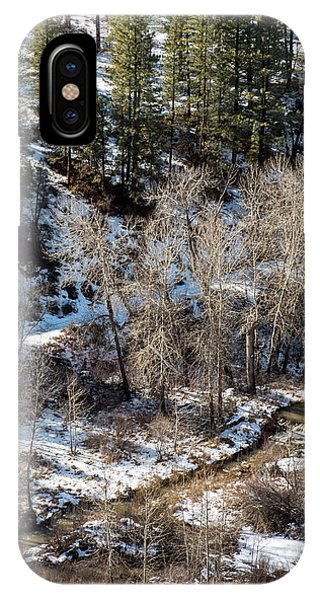 Winter In The Susan River Canyon Phone Case by The Couso Collection