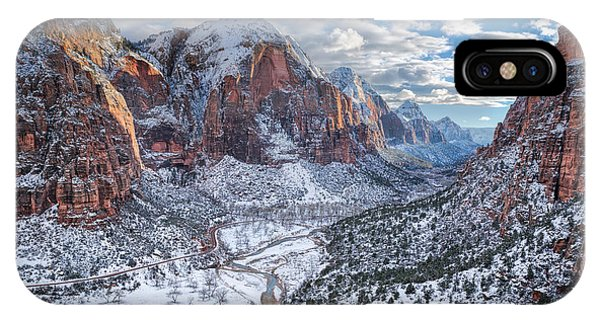 Winter In Zion National Park IPhone Case