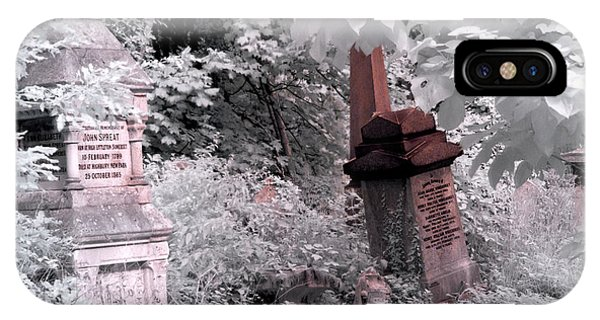 Winter Infrared Cemetery IPhone Case