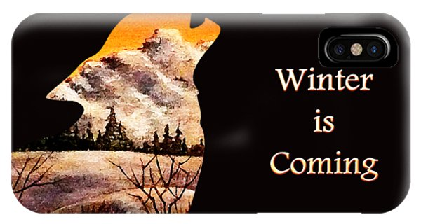 Quote iPhone Case - Winter Is Coming by Anastasiya Malakhova