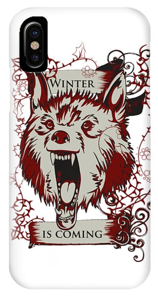 IPhone Case featuring the digital art Winter Is Coming by Christopher Meade