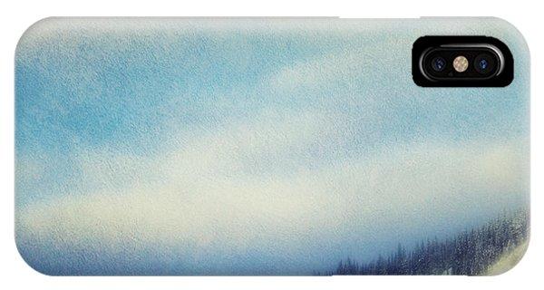 Treeline iPhone Case - Winter Is So Quiet It Needs No Words by Priska Wettstein