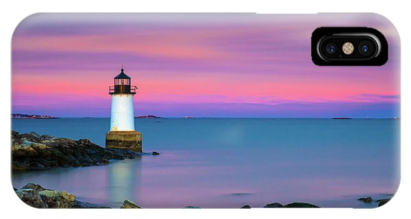 IPhone Case featuring the photograph Winter Island Light 1 by Brian Hale