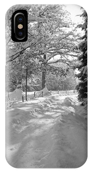 Snowy Road iPhone Case - Winter Landscape  Christmas Card by German School