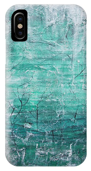IPhone Case featuring the painting Winter Landscape by Jocelyn Friis
