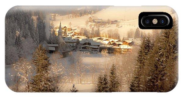 Winter Landscape Salzburger Land IPhone Case