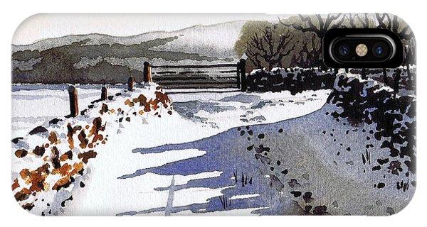 iPhone Case - Winter Lane Sowood by Paul Dene Marlor