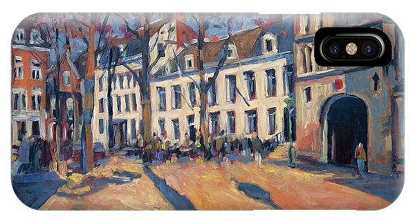 Winter Light At The Our Lady Square In Maastricht IPhone Case