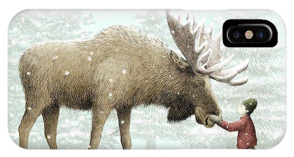Winter Moose IPhone Case