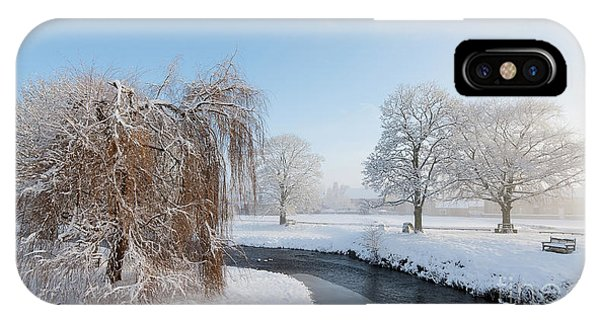 Moor iPhone Case - Winter Morning At Sinnigton by Janet Burdon