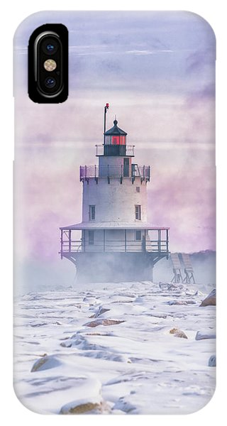 Winter Morning At Spring Point Ledge IPhone Case