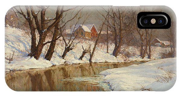 Rural iPhone Case - Winter Morning by Walter Launt Palmer