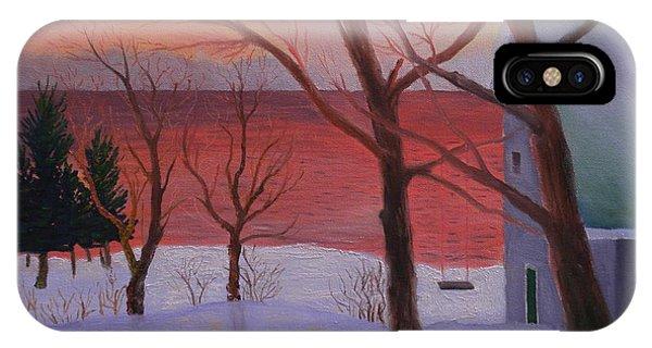 Winter Ocean Sunrise IPhone Case