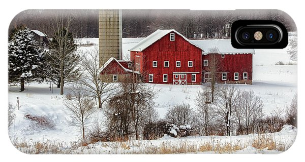 Winter On A Farm IPhone Case