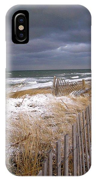 Winter On Cape Cod Sandy Neck Beach IPhone Case