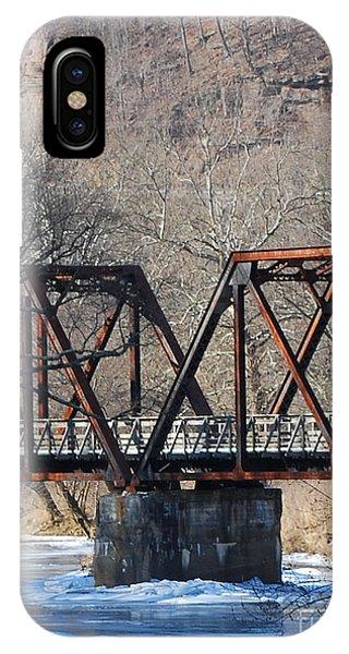 Winter On Knapps Creek IPhone Case