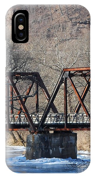 Winter On Knapps Creek IPhone Case