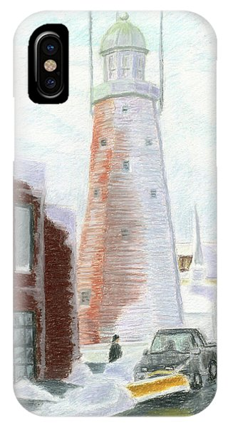 Winter On Munjoy Hill IPhone Case