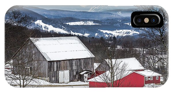 Winter On The Farm On The Hill IPhone Case