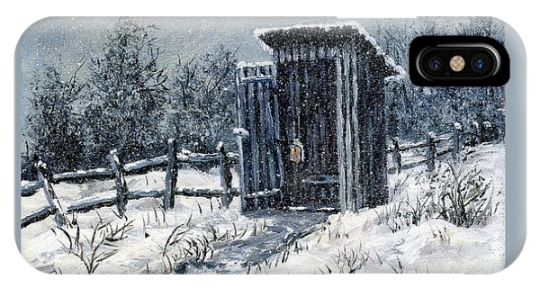 Winter Outhouse #2 IPhone Case