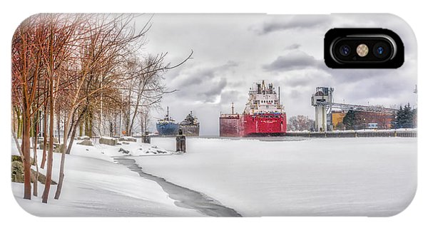 Winter Owen Sound Harbour IPhone Case