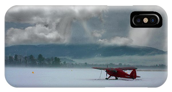 IPhone Case featuring the photograph Winter Plane by Wayne King