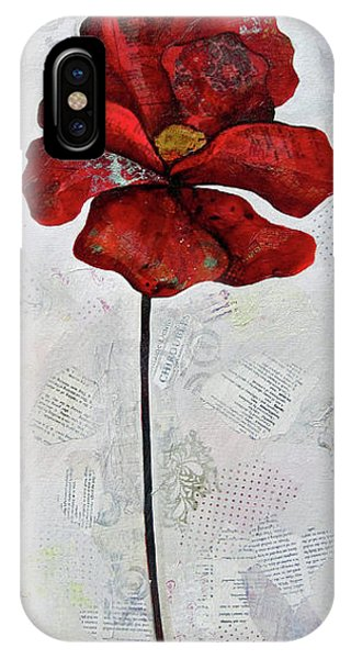 Cold iPhone Case - Winter Poppy I by Shadia Derbyshire