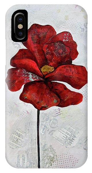 Wintry iPhone Case - Winter Poppy I by Shadia Derbyshire